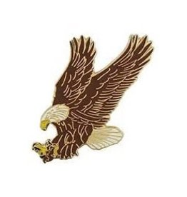"""Bald Eagle Landing Pin 1 1/2"""""""