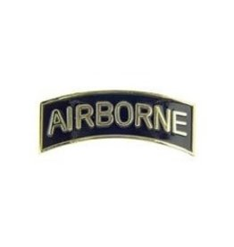 "MidMil Army Airborne Tab Pin 2 1/2"" Gold on Black"