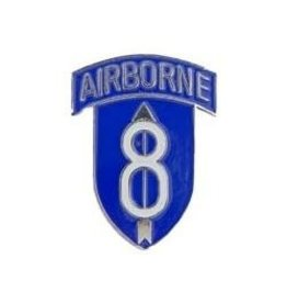 MidMil 8th Airborne Division Emblem Pin 1""
