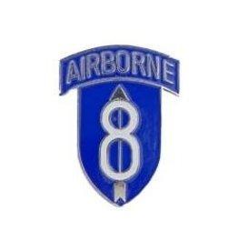 "MidMil 8th Airborne Division Emblem Pin 1"""