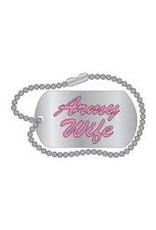"""MidMil Army Wife Text Miniature Dogtag Pin 1 1/4"""""""