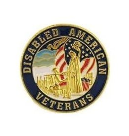 MidMil Disabled American Veterans Pin 1""