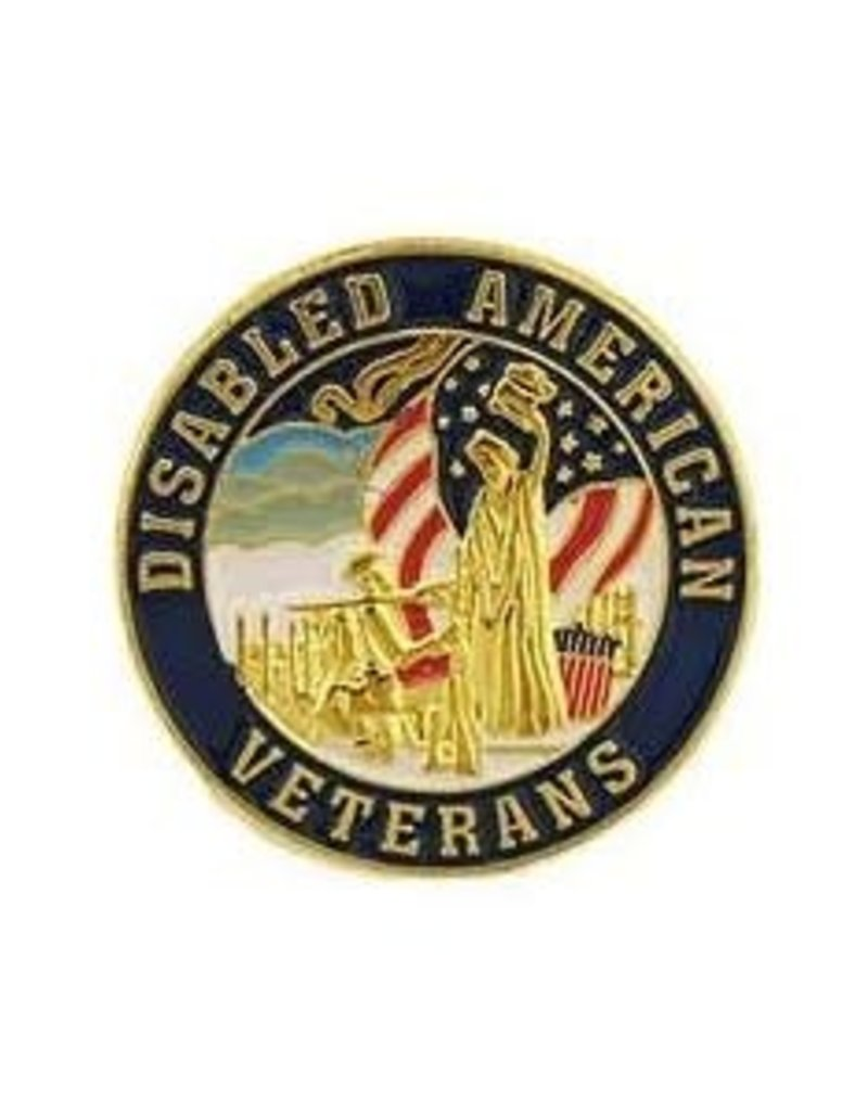 "MidMil Disabled American Veterans Pin 1"""