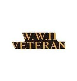 W.W.II Veteran Text Pin 1 1/2'