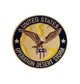 MidMil Operation Desert Storm Pin 1""