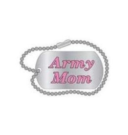 Army Mom Dog Tag Pin 1 1/4""