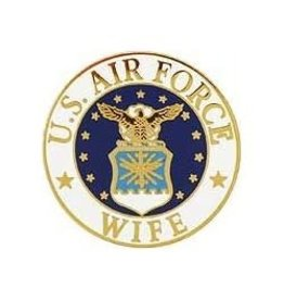 """MidMil Air Force Wife Pin 1"""""""