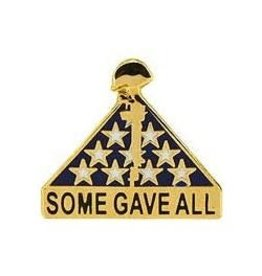 "Flag Memorial ""Some Gave All"" Pin 1"""