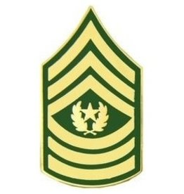 """MidMil Army Command Sergeant Major (E-9) Pin 1 1/4"""""""