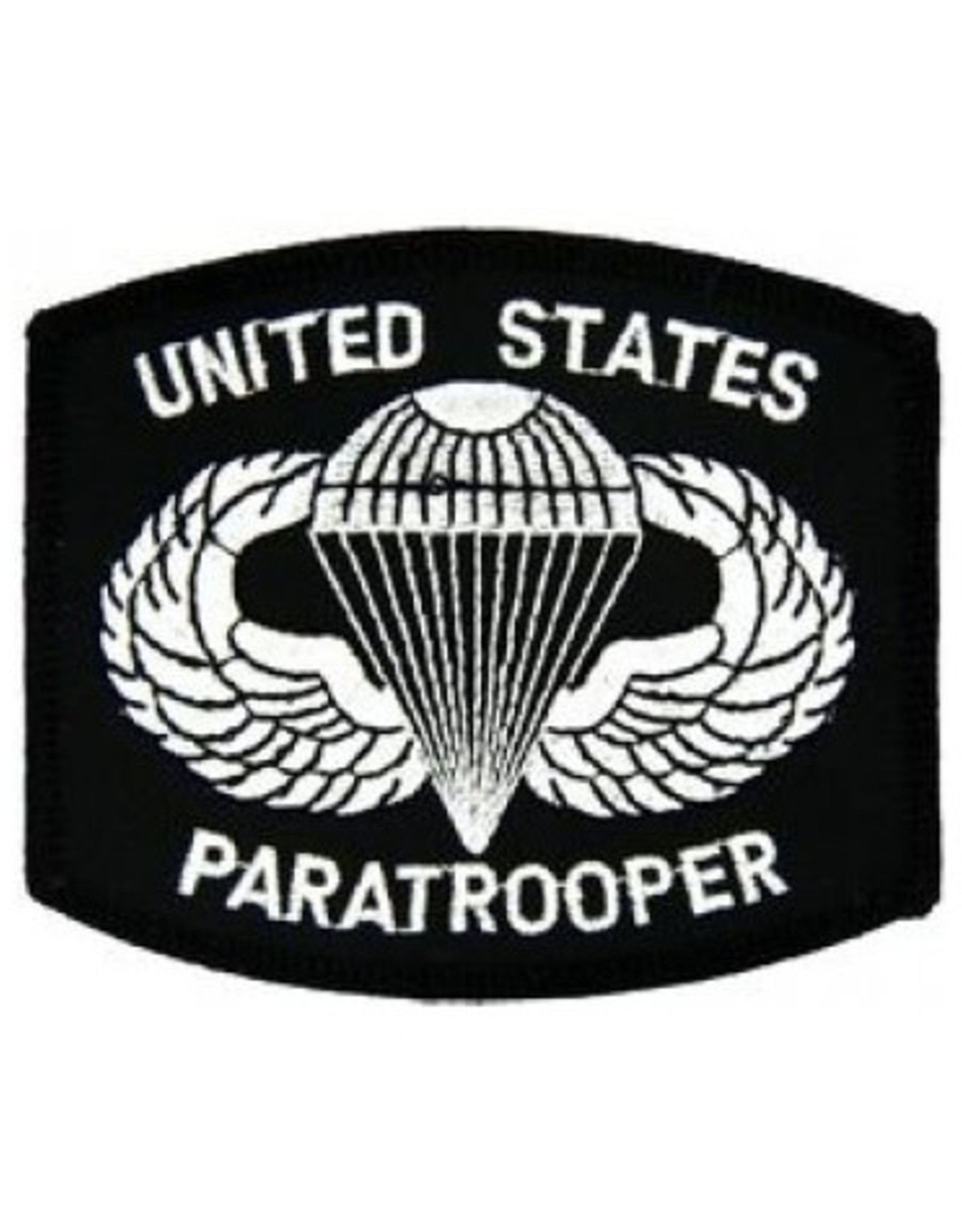 "MidMil Embroidered United States Paratrooper Patch with Emblem 3.4"" wide x 3"" high"