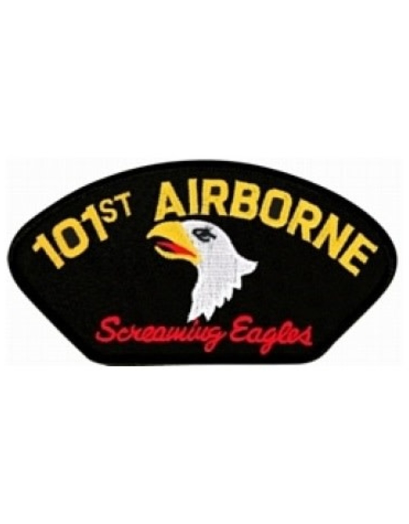 """MidMil Embroidered 101st Airborne Patch with Emblem and  Motto  5.2"""" wide x 2.8"""" high"""