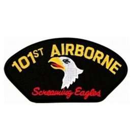 """Embroidered 101st Airborne Patch with Emblem and  Motto  5.2"""" wide x 2.8"""" high"""