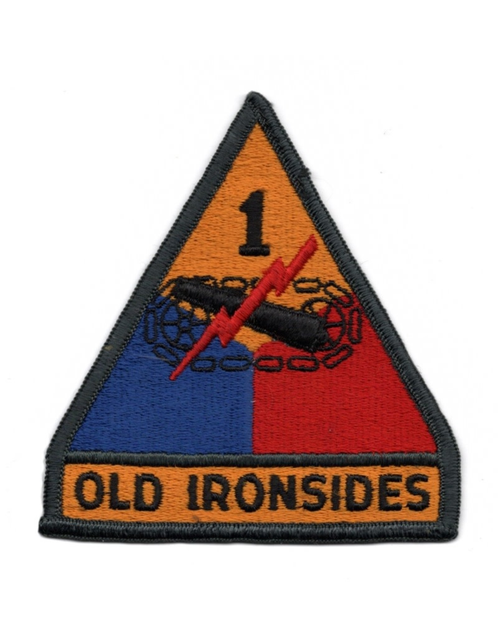 "MidMil Embroidered 1st Armored Division Emblem Patch  3.7"" wide x 4"" high"