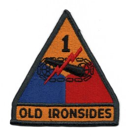"""Embroidered 1st Armor Division Emblem Patch  3.7"""" wide x 4"""" high"""
