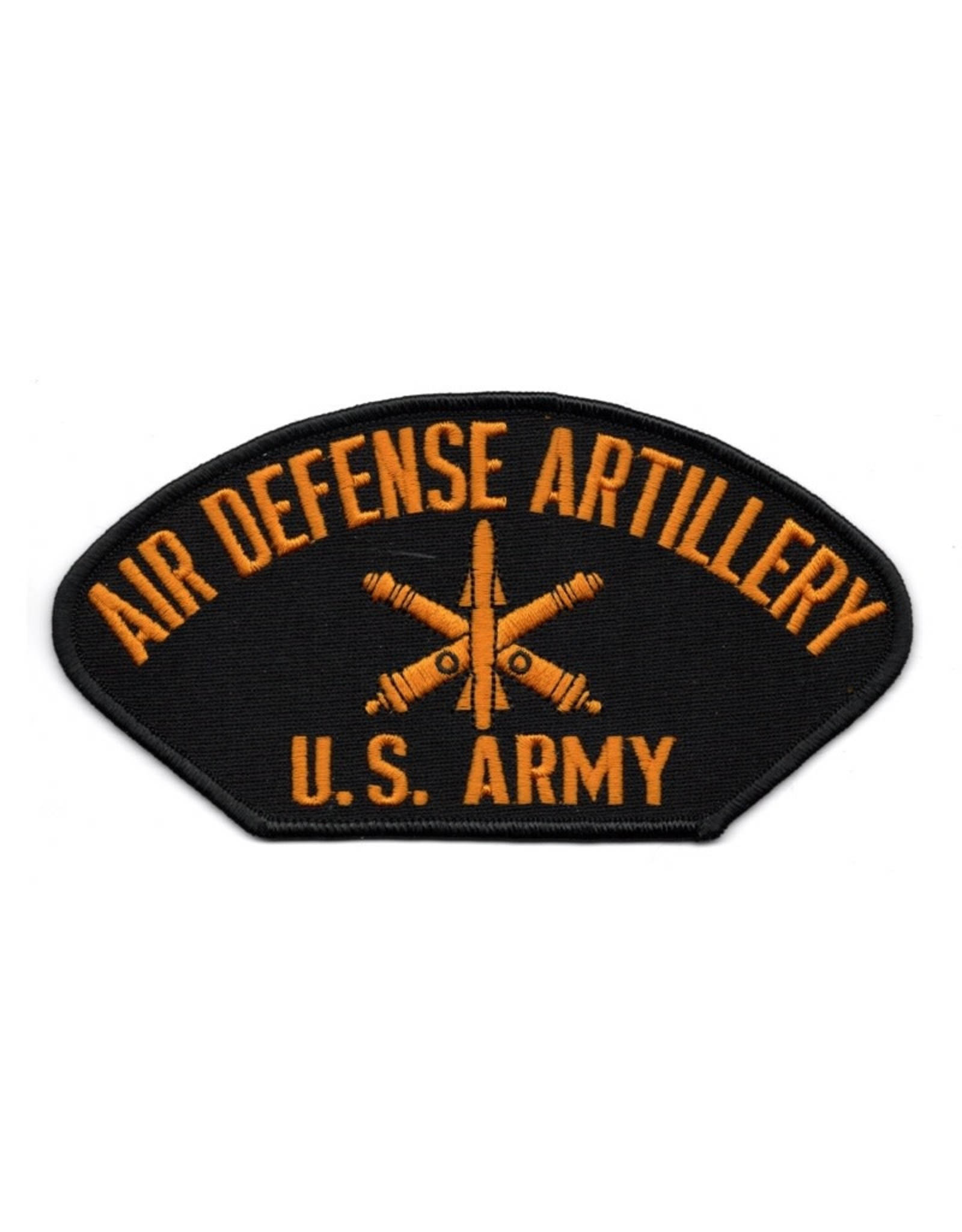 "MidMil Embroidered Army Air Defense Artillery Patch  6"" wide x 3.1"" high Black"