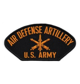 """Embroidered Army Air Defense Artillery Patch  6"""" wide x 3.1"""" high Black"""