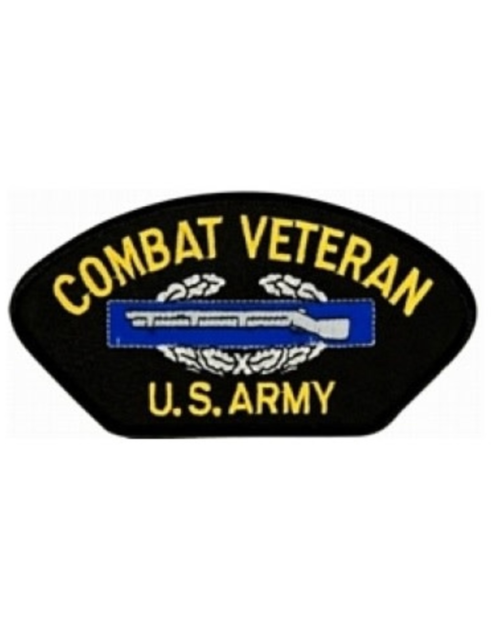"MidMil Embroidered Army Combat Veteran Patch with  CIB 5.2"" wide x 2.8"" high"