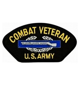 "Embroidered Army Combat Veteran Patch with  CIB 5.2"" wide x 2.8"" high"