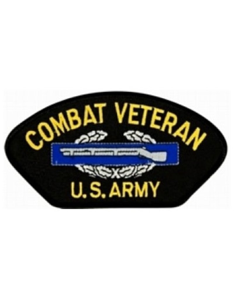 """MidMil Embroidered Army Combat Veteran Patch with  CIB 5.2"""" wide x 2.8"""" high"""