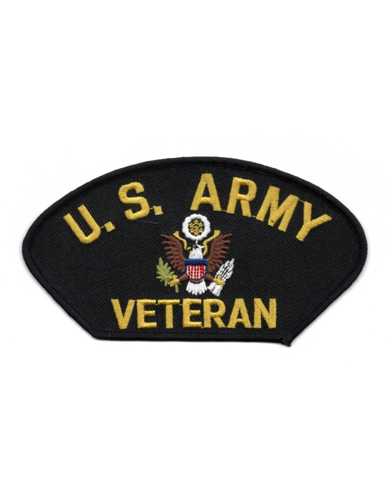 "MidMil Embroidered U.S. Army Veteran Patch with Seal 5.2"" wide x 2.7"" high"