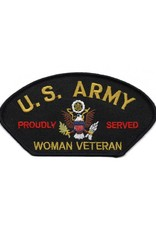 """MidMil Embroidered U. S. Army Woman Veteran Proudly Served Patch 5.2"""" wide x 2.8"""" high"""