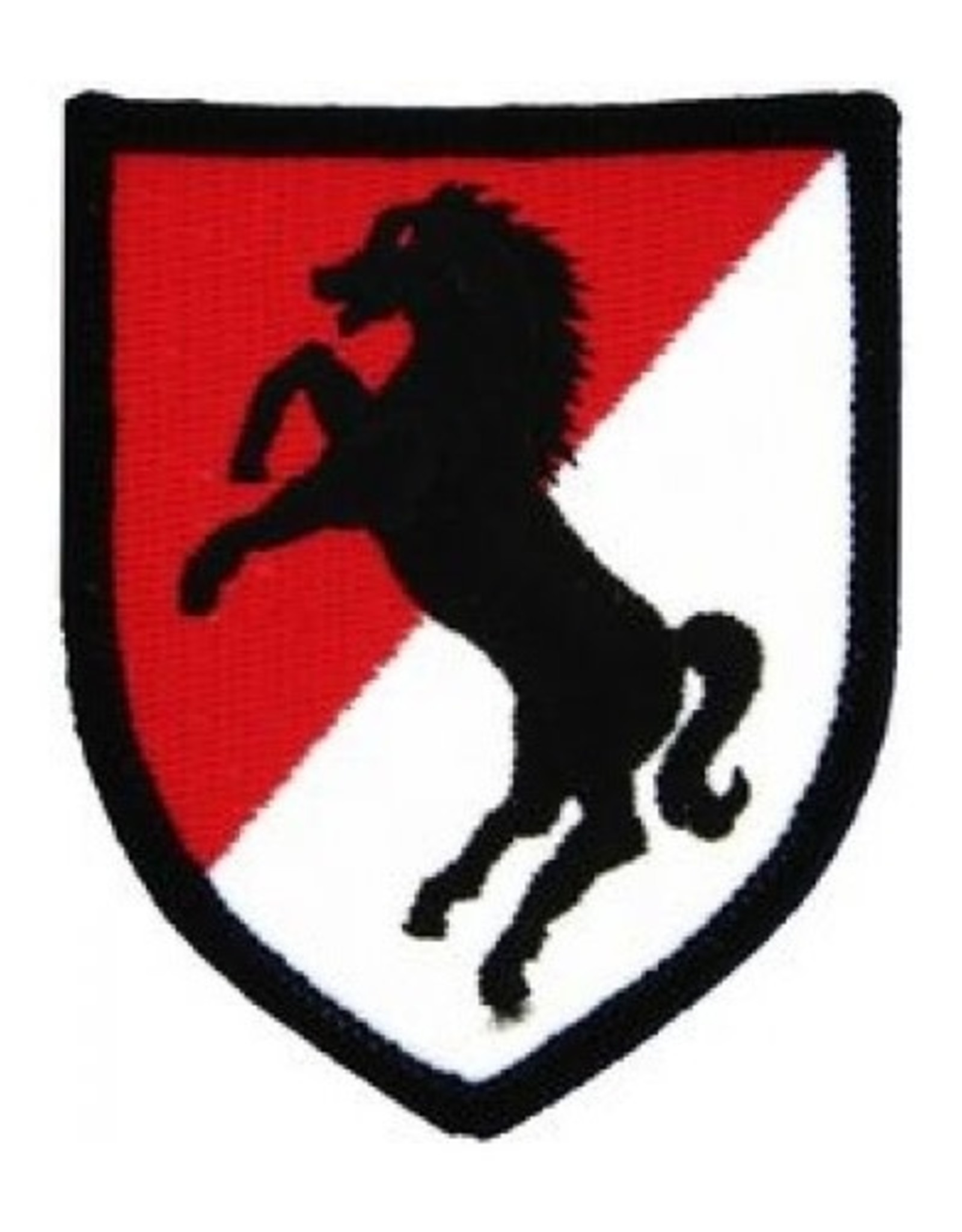 "MidMil Embroidered 11th Armored Emblem Cavalry Patch 2.5"" wide x 3"" high"