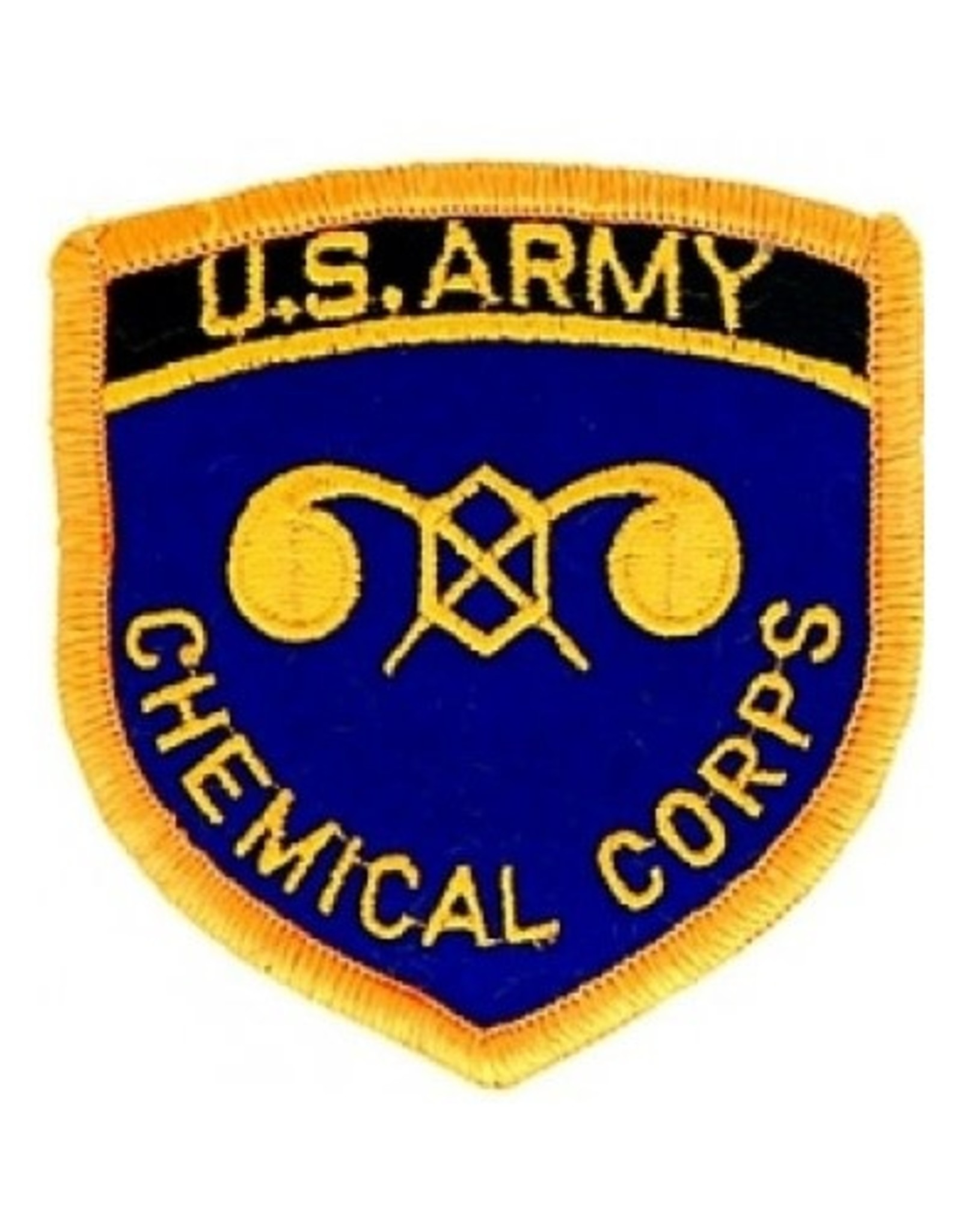 """MidMil Embroidered Army Chemical Corps Emblem Patch 2.8"""" wide x 3"""" high"""