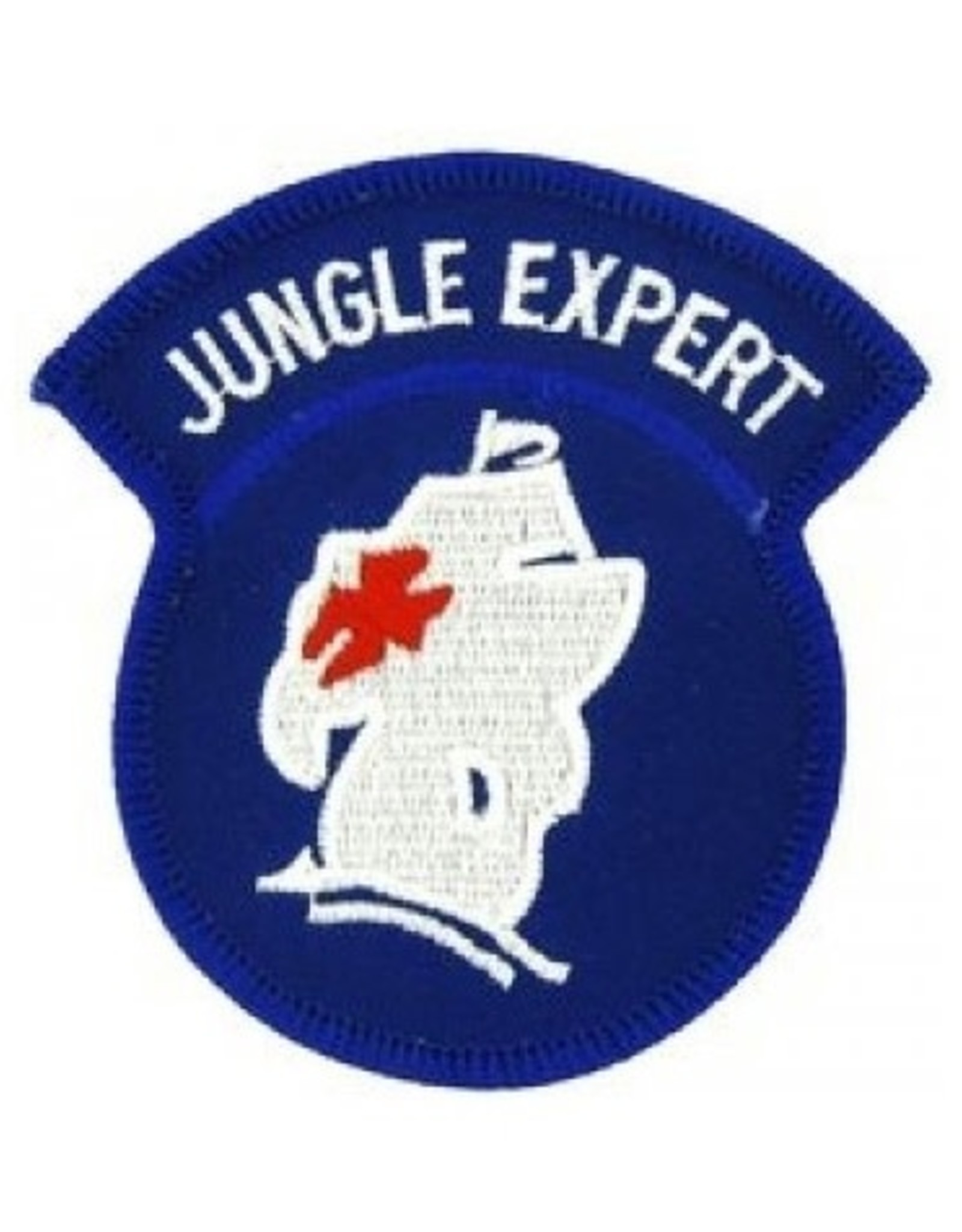 """MidMil Embroidered Army Jungle Expert Emblem Patch 2.8"""" wide x 3"""" high"""
