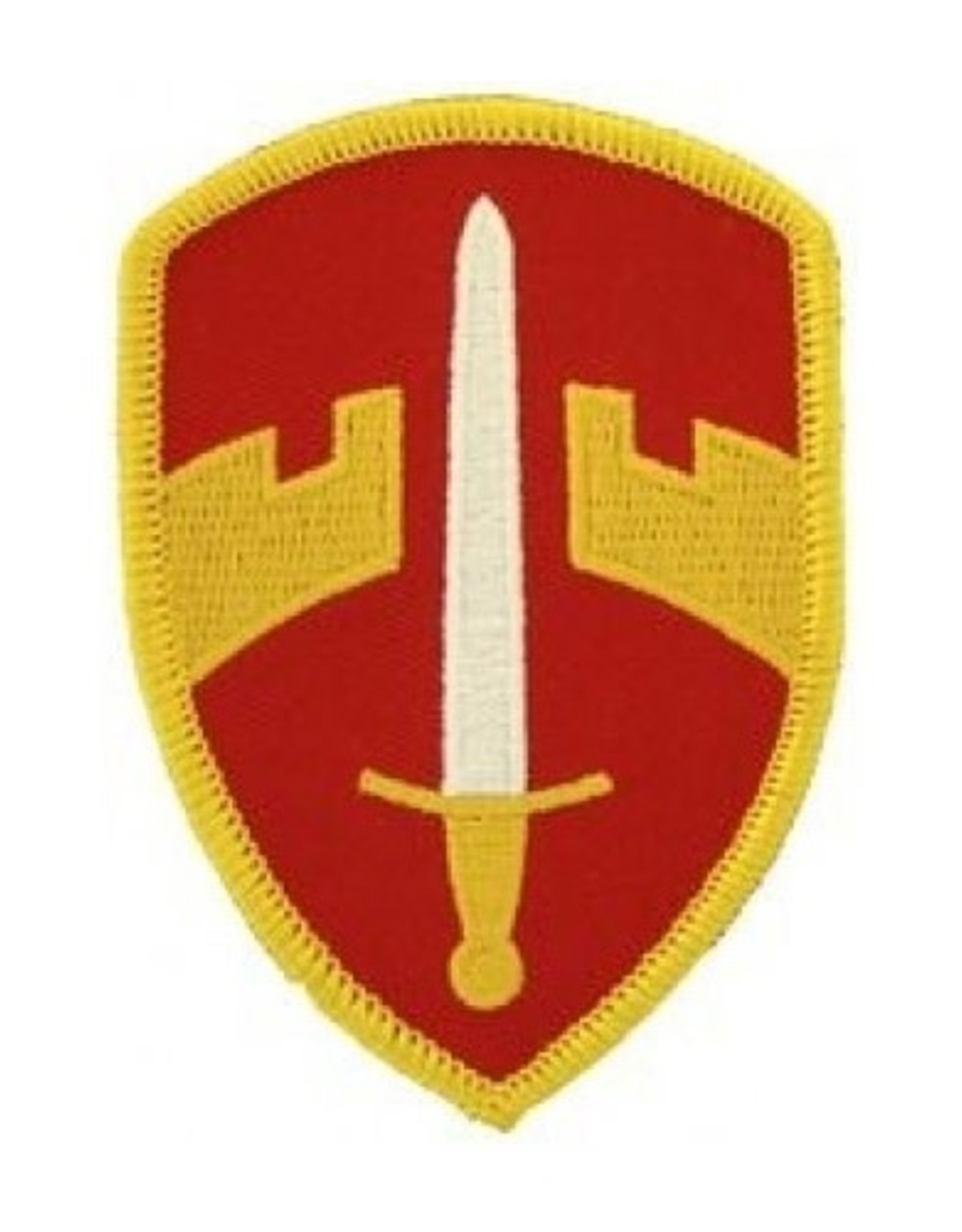 """MidMil Embroidered Army Military Assistance Command, Vietnam Emblem Patch 2.2"""" wide x 3.1"""" high"""