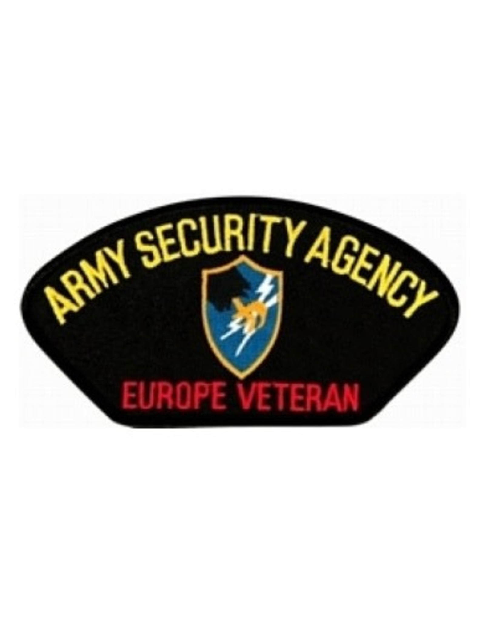 """MidMil Embroidered Army Security Agency - Europe Veteran Patch 5.2"""" wide x 2.8"""" high"""""""