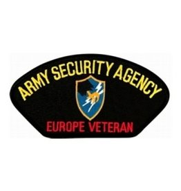 "MidMil Embroidered Army Security Agency - Europe Veteran Patch 5.2"" wide x 2.8"" high"""