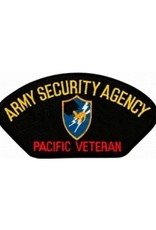 """MidMil Embroidered Army Security Agency - Pacific Veteran Patch with Emblem 5.2"""" wide x 2.8"""" high"""""""