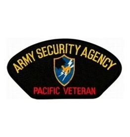 "MidMil Embroidered Army Security Agency - Pacific Veteran Patch with Emblem 5.2"" wide x 2.8"" high"""