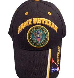 MidMil Army Veteran Hat with Seal Black