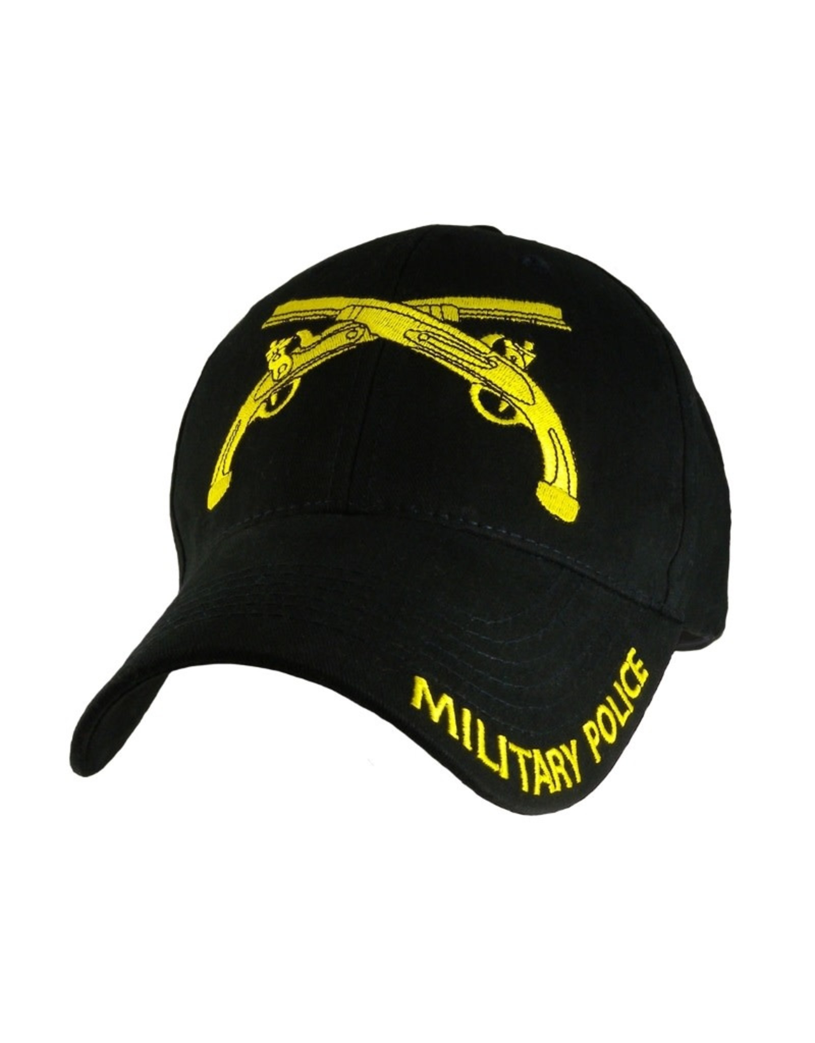 MidMil Army Military Police Hat with Emblem Black