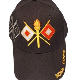 MidMil Army Signal Corps Hat with Emblem and Shadow Black