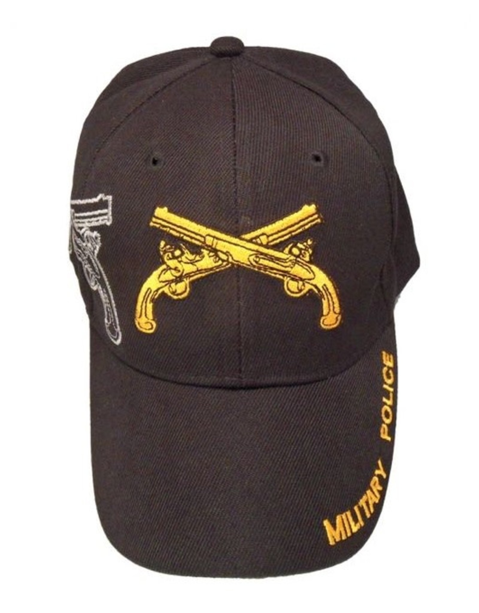 MidMil Army Military Police Hat with Emblem and Shadow Black