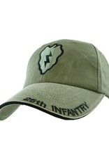 MidMil Army 25th Infantry Division Hat with Subdued Emblem Olive Drab