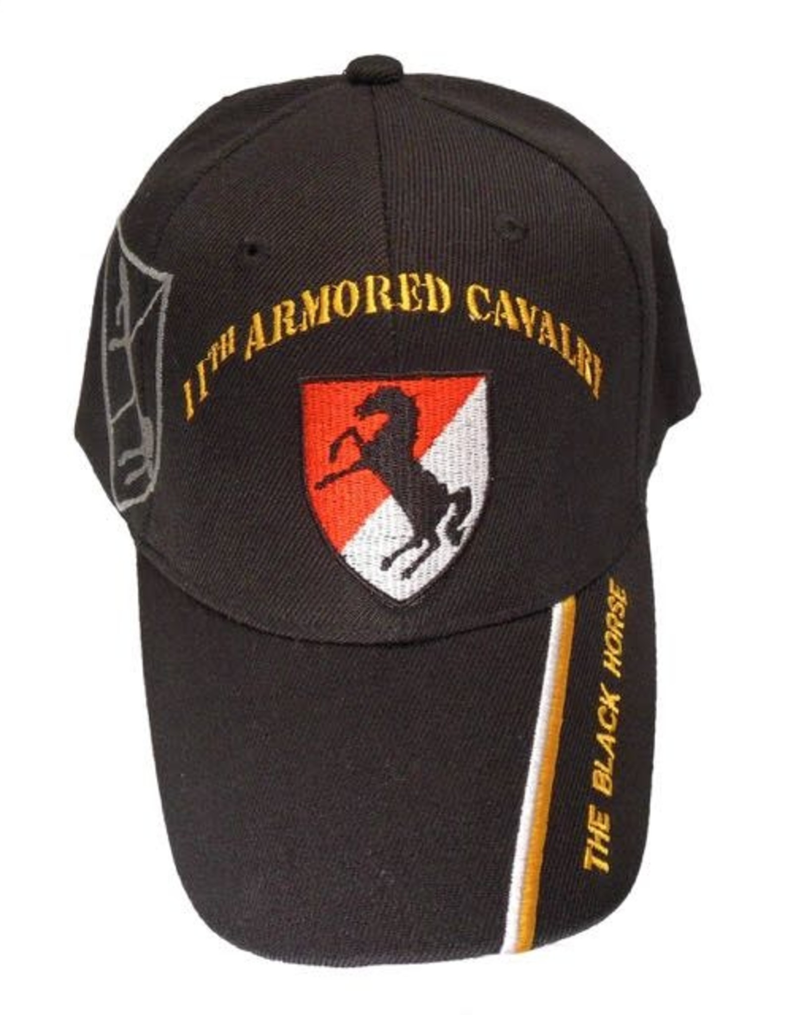 MidMil Army 11th Armored Cavalry Regiment Hat with Motto Black