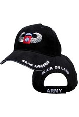 MidMil Army 82nd Airborne Division Hat with Emblem  and Wings Black