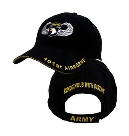MidMil Army 101st Airborne Division Hat with Emblem  and Wings