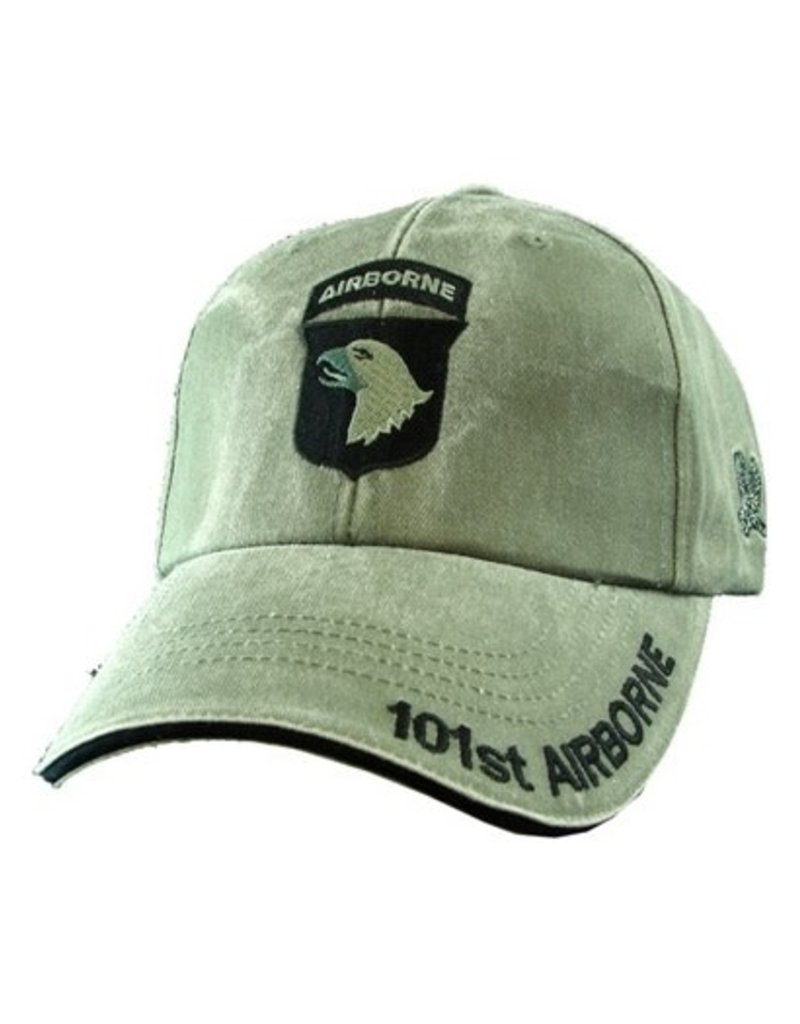 MidMil Army 101st Airborne Division Hat with Emblem Olive Drab