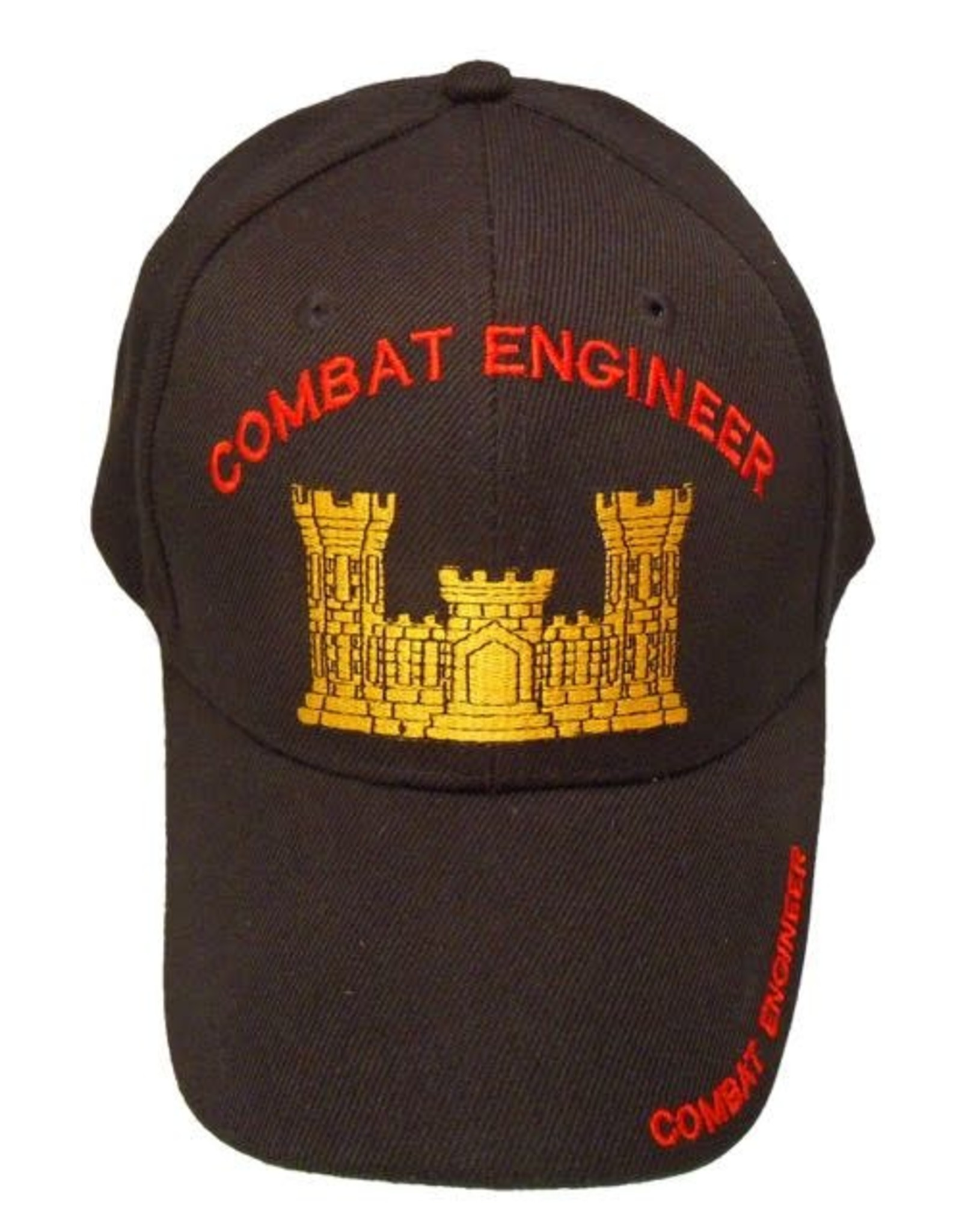 MidMil Army Combat Engineer Hat with Corps of Enginners Castle Black