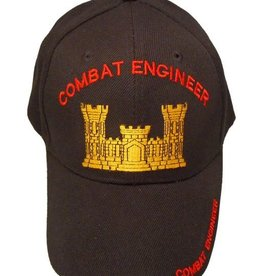 Army Combat Engineer Hat with Corps of Enginners Castle Black