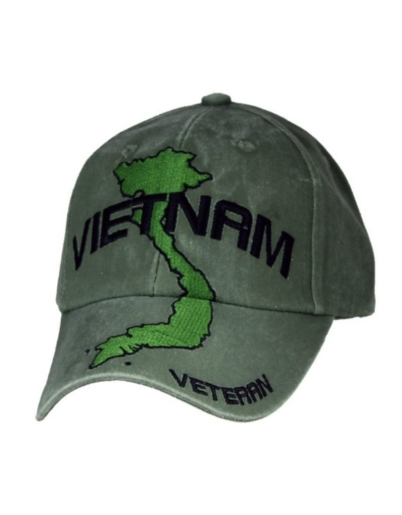 MidMil Vietnam Veteran Country Map Hat Olive Drab