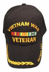 MidMil Vietnam War Veteran with Ribbons and Wheat on Bill Black
