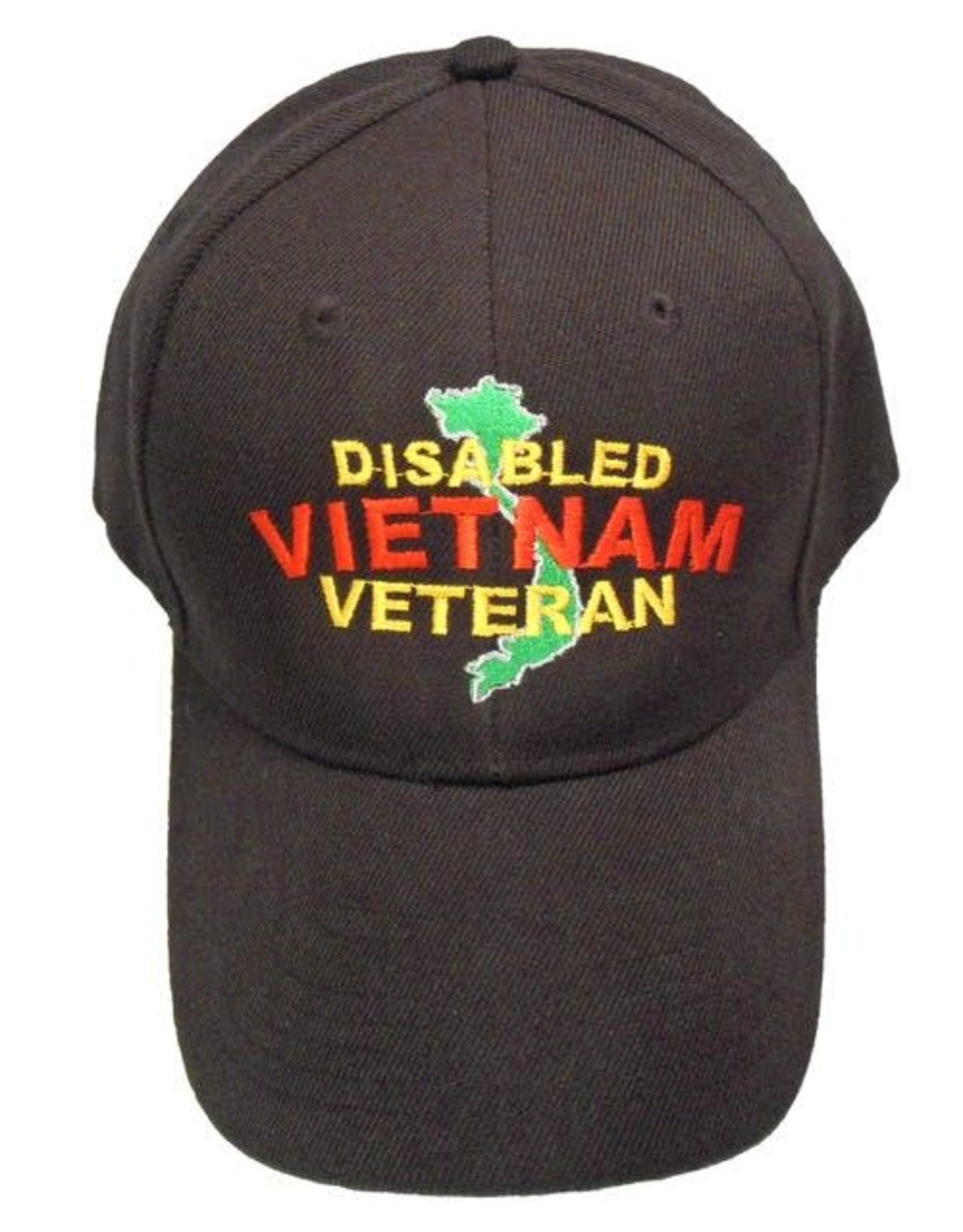 MidMil Disabled Vietnam Veteran Hat with Country Map Black
