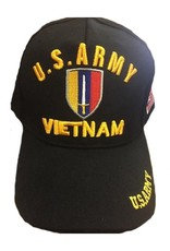 MidMil U.S. Army Ground Forces Vietnam Shield Hat Black