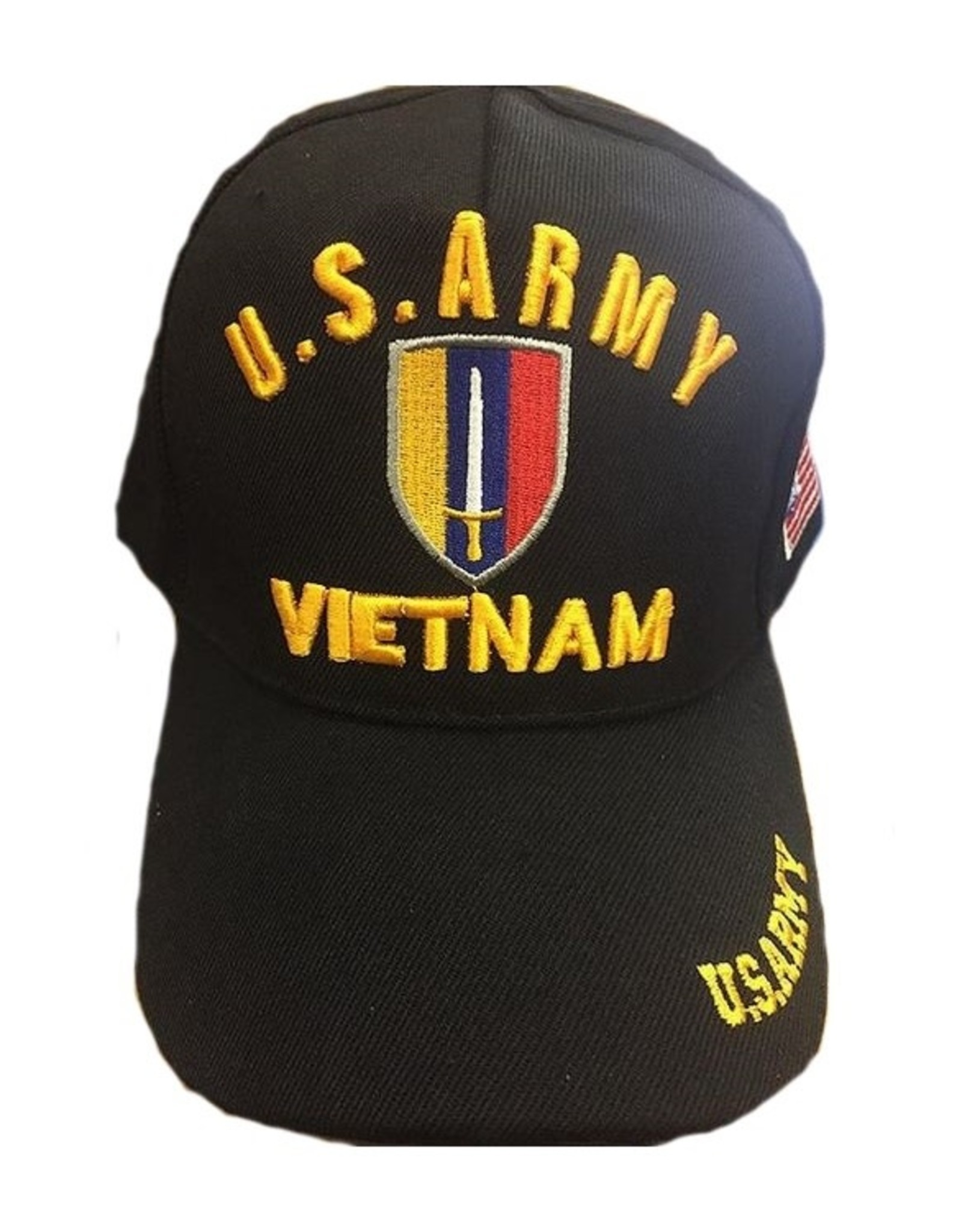 MidMil U.S. Army Ground Forces Vietnam Emblem Hat Black