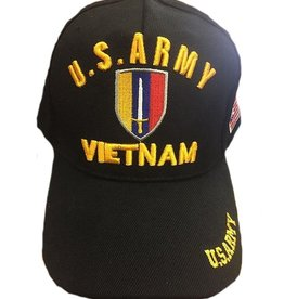 MidMil U.S. Army Ground Forces Vietnam Emblem Hat Black